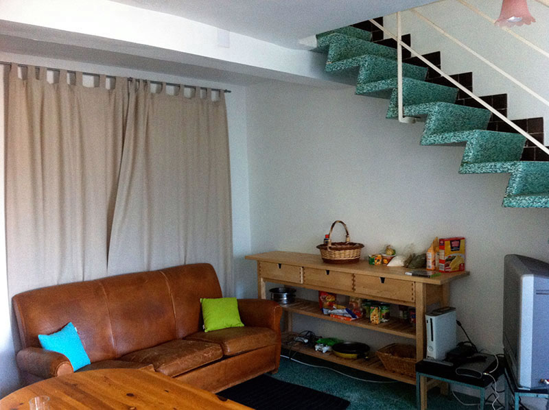 The shared living space in a shared apartment to rent in Montpellier