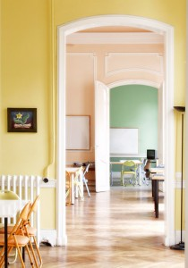 bright and spacious classrooms in an elegant old building