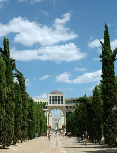 the view of the famous Antigone in Montpellier