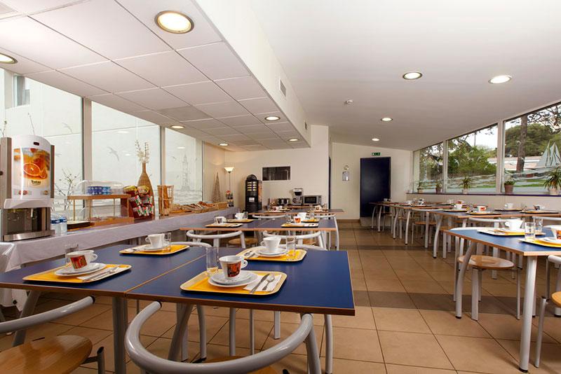 Breakfast at an apart-hotel in Montpellier