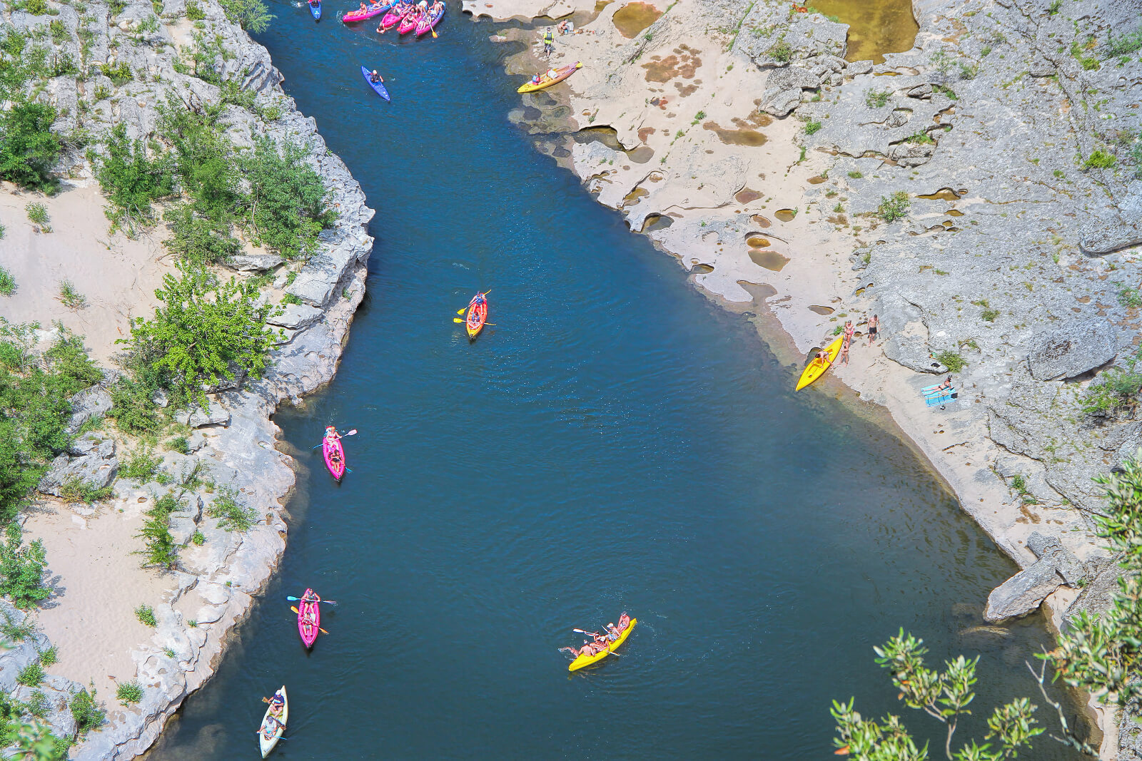 Kayak ardeche gorge in France
