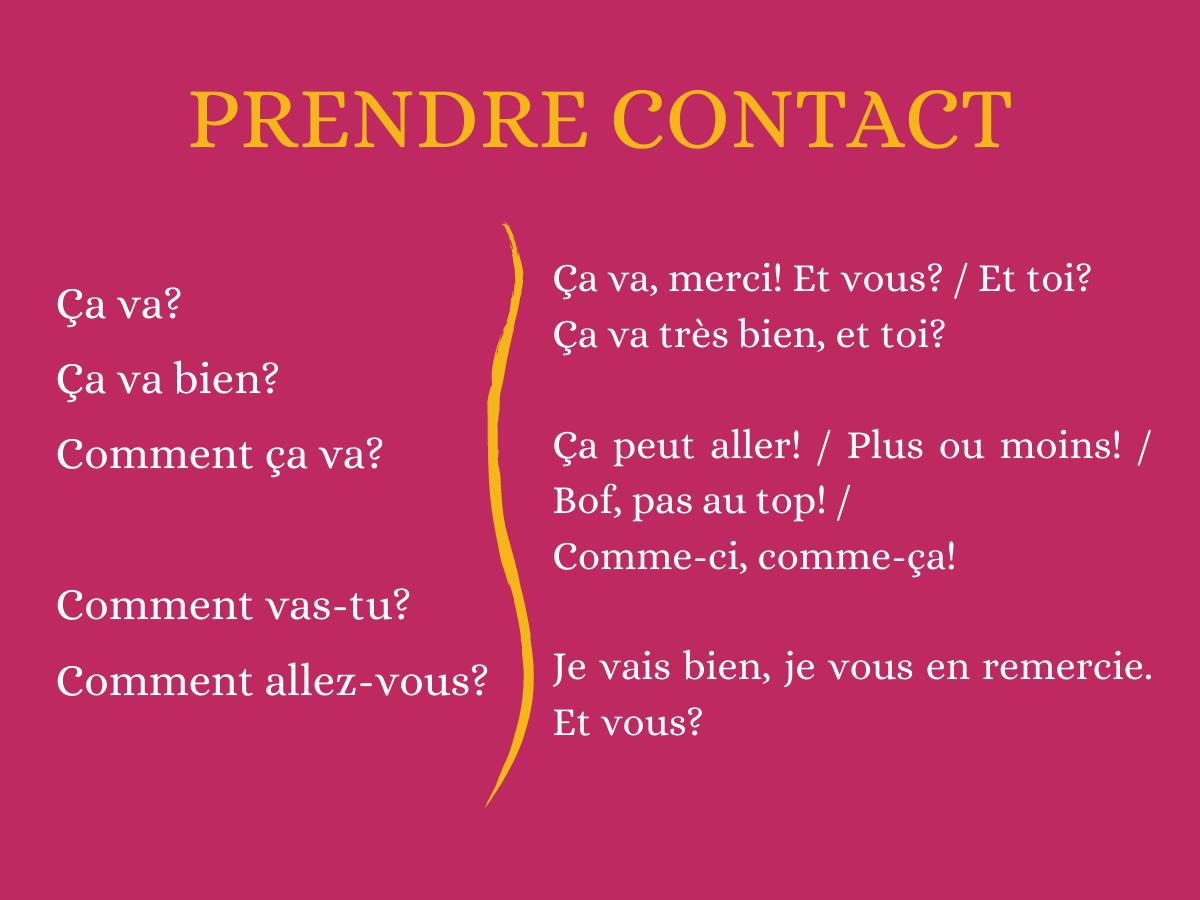 Prendre contact