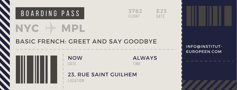 Basics of french greet and say goodbye institut europeen de franais basics of french greet and say goodbye m4hsunfo