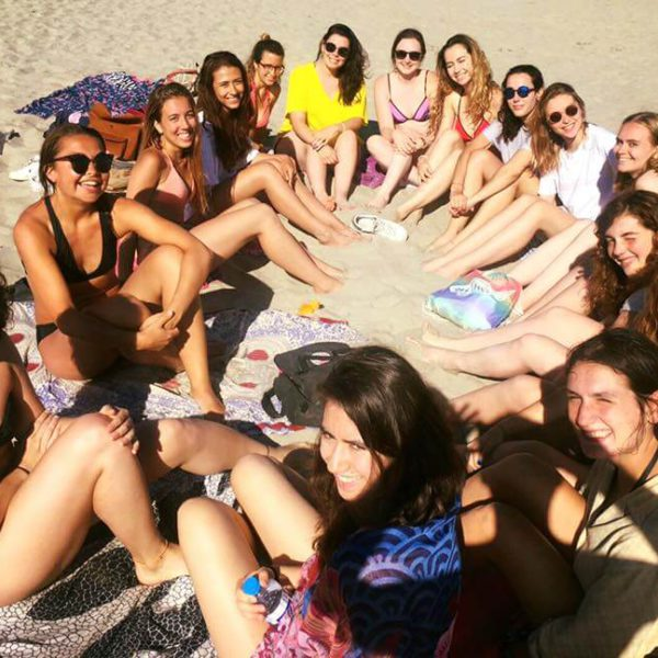 IEF students on the beach of Montpellier