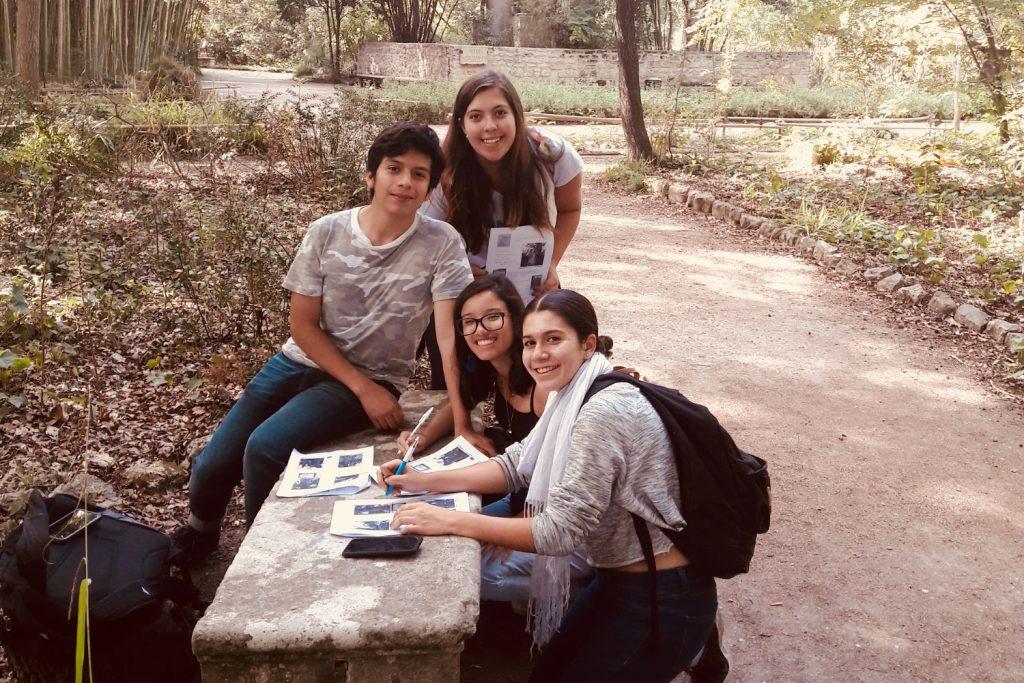 Etudiants au Jardin des plantes